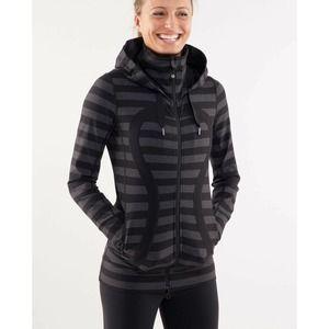 Lululemon Stride Jacket Black Mirco Macro Stripe 4